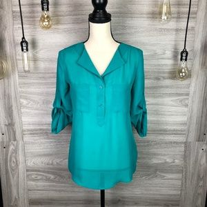 Maurices Dark Teal Blouse Size X-Small